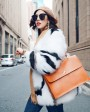 White Fox Fur Jacket with Black Stripes 095b