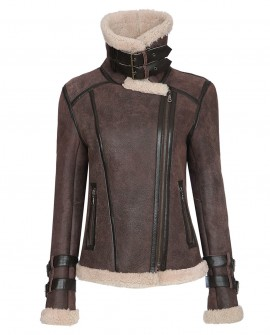 Shearling Sheepskin Biker Jacket