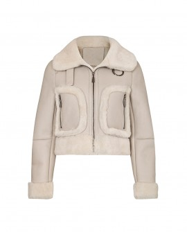 Shearling Sheepskin Cropped Jacket
