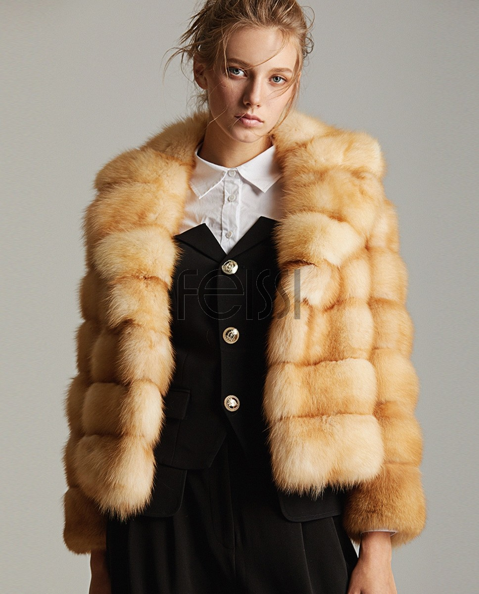 Cropped Sable Fur Jacket 0081a