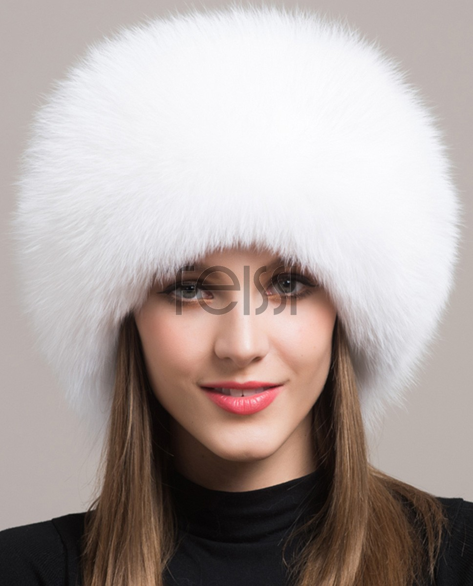 Fox Fur Hat 861 White 1