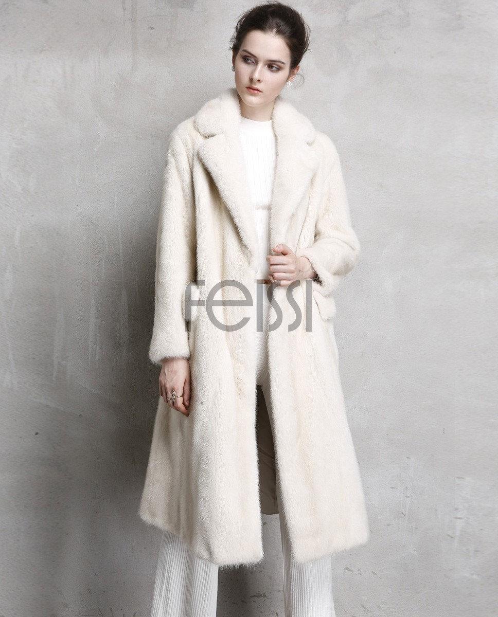Long Pearl Mink Fur Coat 788a