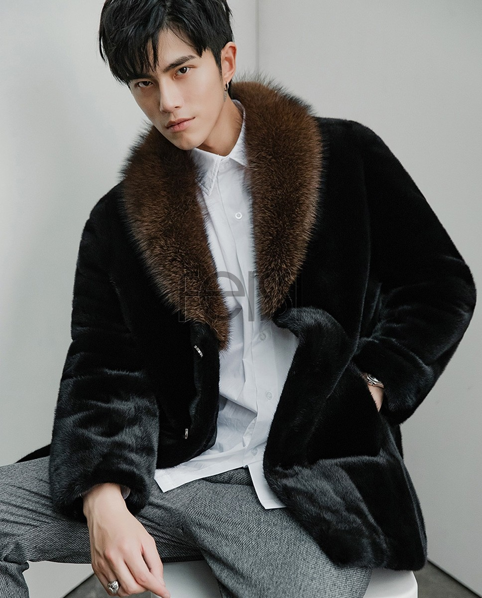 Men's Mink Fur Coat 394a
