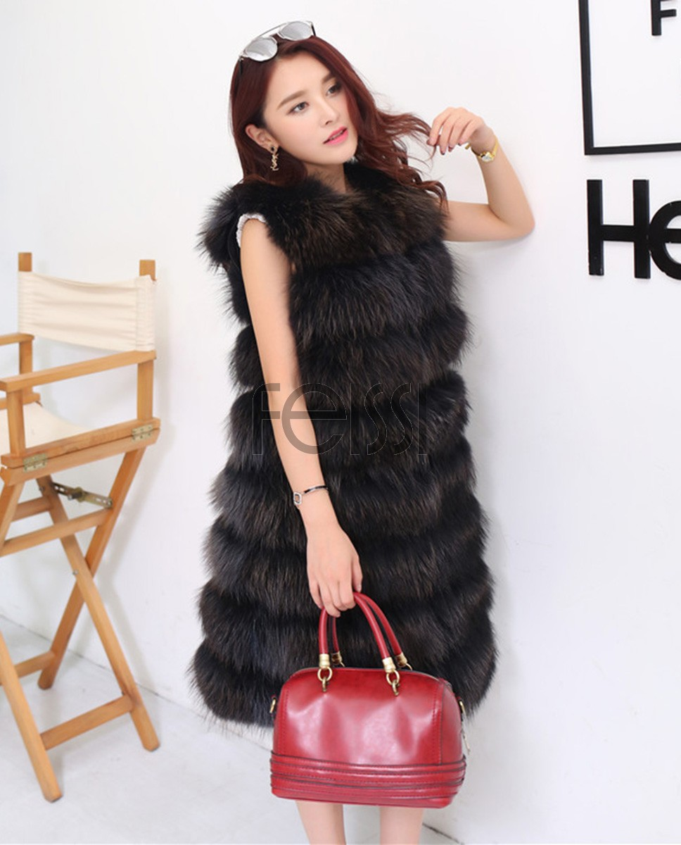 Raccoon Fur Vest 816a