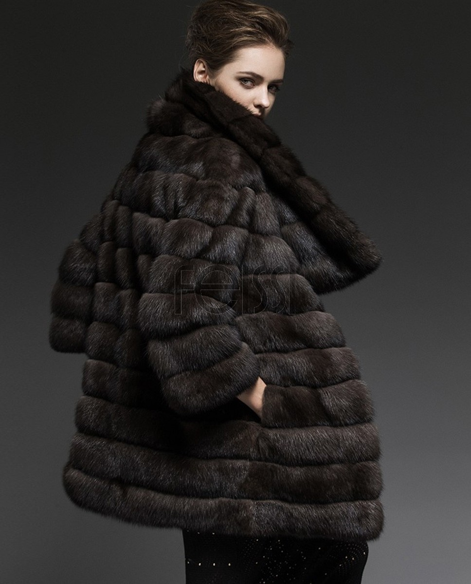 Sable Fur Coat 203a