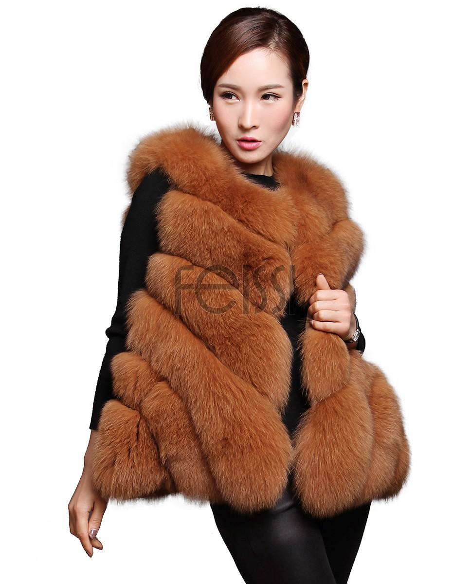 Women's Fox Fur Vest 605_1