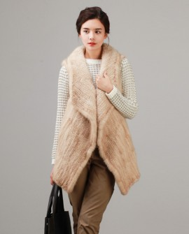 Knitted Mink Fur Vest 844a