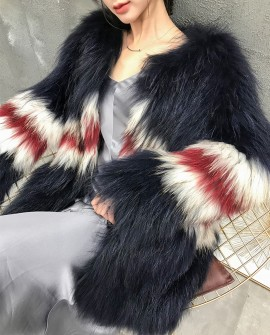 Knitted Raccoon Fur Jacket 304d