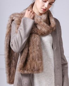 Knitted Sable Fur Shawl