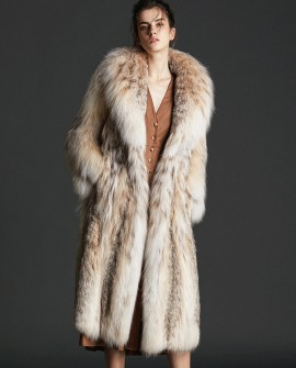 Lynx Fur Long Coat 0077a