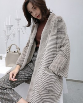 Mink Fur Woollen Knitted Cardigan