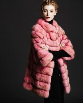 Pink Sable Fur Coat
