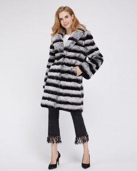 Rex Rabbit Fur Coat 224h
