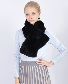 Rex Rabbit Fur Scarf 376a