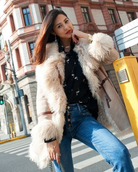 Shearling Sheepskin Jacket 098a