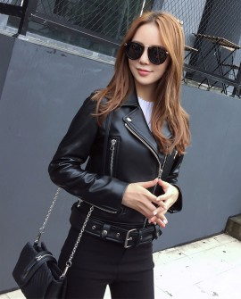 Sheepskin Real Leather Biker Jacket