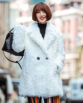 3/4 Length Sheep Fur Coat