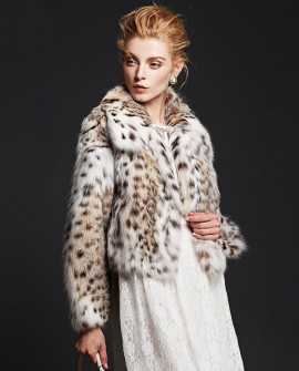 Cropped Lynx Fur Jacket
