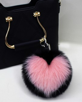 Fox Fur Pompoms Pendant Bag Charm