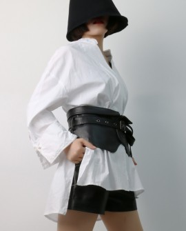 Sheep Leather Girdle -  Waist Closure
