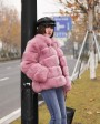 Fox Fur Jacket in Pink 986bd