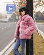 Fox Fur Jacket in Pink 986be