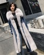 Fox Fur Trim Long Parka Trench Coat with Down-Filled Liner 280c