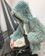 Hooded Fox Fur Coat 319b