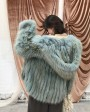 Hooded Fox Fur Coat 319e