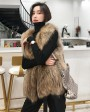 Knitted Raccoon Fur Vest 303a