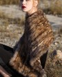 Knitted Sable Fur Shawl 067d