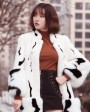 Mink Fur Long Coat With Fox Fur Trim 0094d