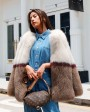 Multicolored Fox Fur Jacket 274c