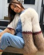 Multicolored Fox Fur Jacket 274e