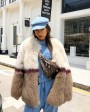 Multicolored Fox Fur Jacket 274f