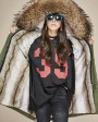 Raccoon Fur Trimmed Hooded Parka with Detachable Liner 128i