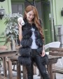 Raccoon Fur Vest 824 Black 1
