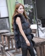 Raccoon Fur Vest 824 Black 2