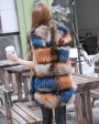 Raccoon Fur Vest 824 Multi 3