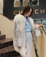 Shadow Blue Frost Fox Fur Coat 0022h