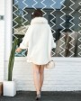 Shearling Lambwool Coat with Fox Fur Collar 735 White 4