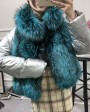 Silver Fox Fur Trimmed Down-filled Cropped Coat Jacket 0023g