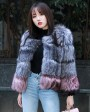 Two-tone Silver Fox Fur Cropped Jacket 0006a