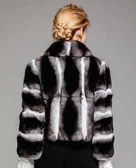 Chinchilla Fur Cropped Jacket