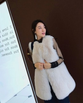 Fox Fur Vest with Mink Fur Back