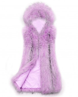 Hooded Raccoon Fur Vest