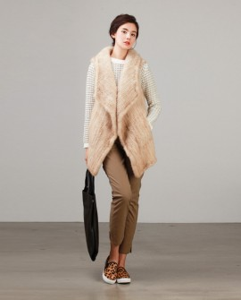 Knitted Mink Fur Vest
