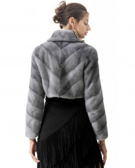 Mink Fur Cropped Bolero Jacket