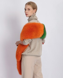 Multicolored Fox Fur Stole
