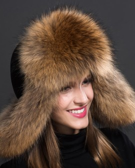 Raccoon Fur Trapper Hat